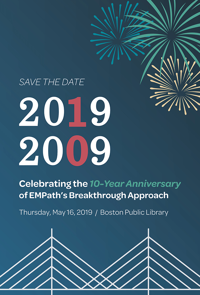 10-year anniversary of EMPath's breakthrough approach. May 16, 2009 at the Boston Public Library